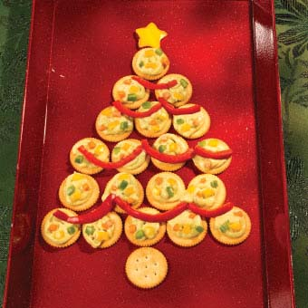 Christmas Tree Cracker Tray