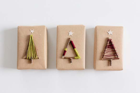 Christmas Tree Twigs #Christmas #diy #gift #wrapping #decorhomeideas