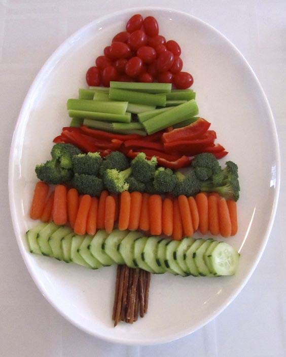 Christmas Vegetable Tree