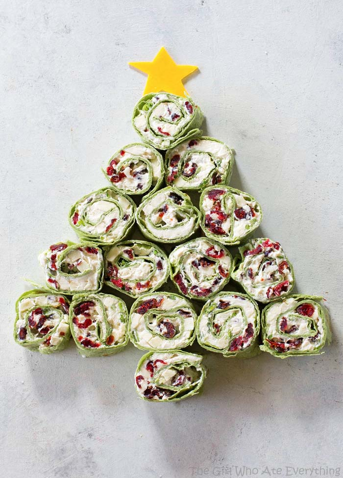 Cranberry Feta Pinwheel Tree