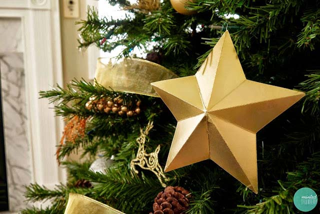 DIY Cardboard Star Ornaments
