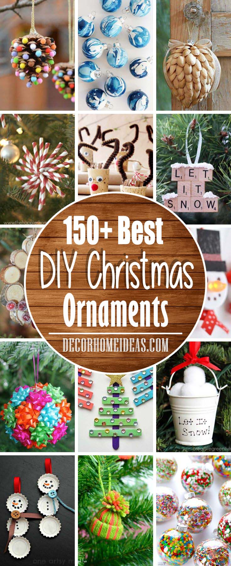 DIY Christmas Ornaments, Best Ideas and Photos #Christmas #ornaments #diy #decorhomeideas