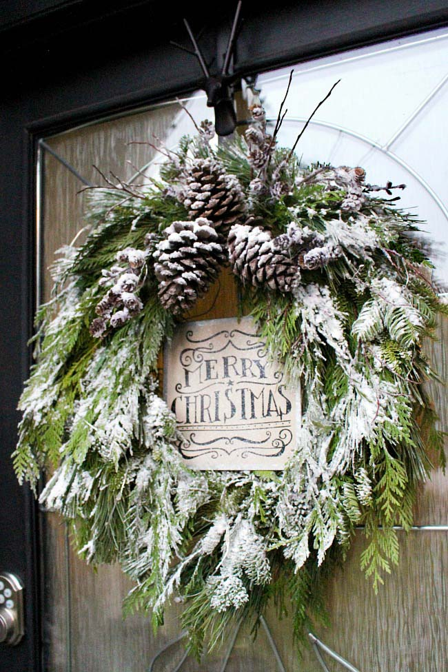 DIY Christmas Wreath #Christmas #natural #decoration #decorhomeideas