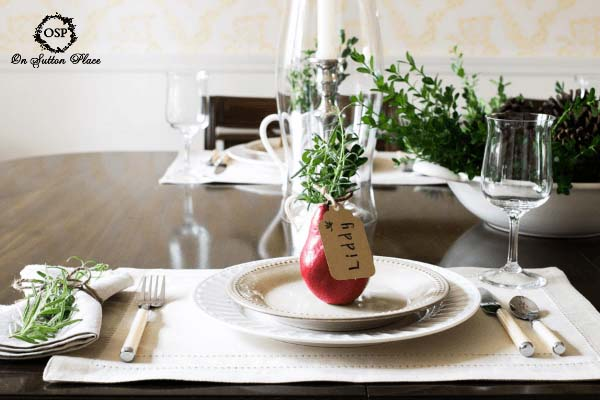 DIY Place Card for Thanksgiving Tablescape #Christmas #natural #decoration #decorhomeideas