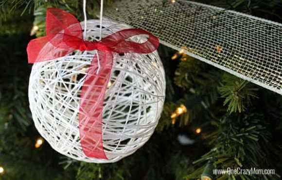 Dollar Store String Ornament