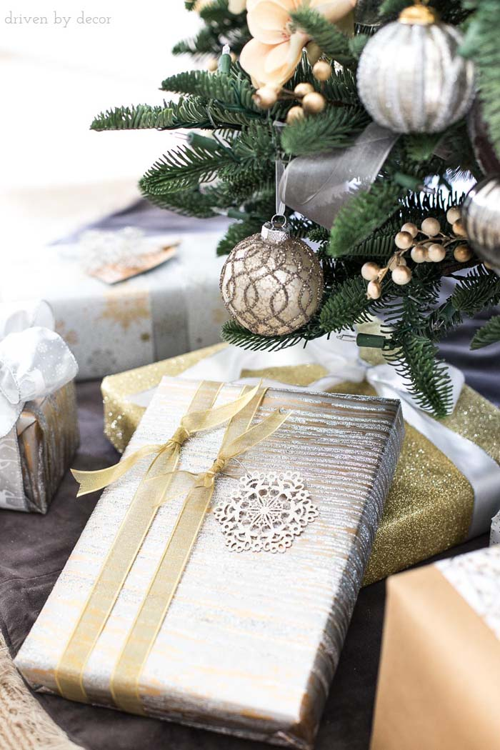 Easy Christmas Gift Wrapping Ideas #Christmas #diy #gift #wrapping #decorhomeideas