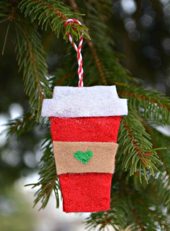 Felt Coffee Cup Ornament