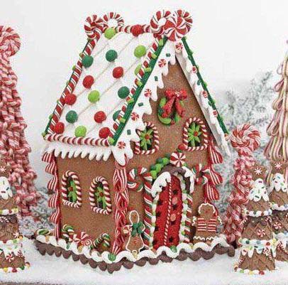 Festive Gingerbread House #Christmas #gingerbread #house #decorhomeideas