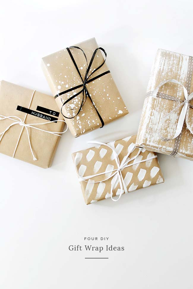 Four Paint Brush Gift Ideas  #Christmas #diy #gift #wrapping #decorhomeideas