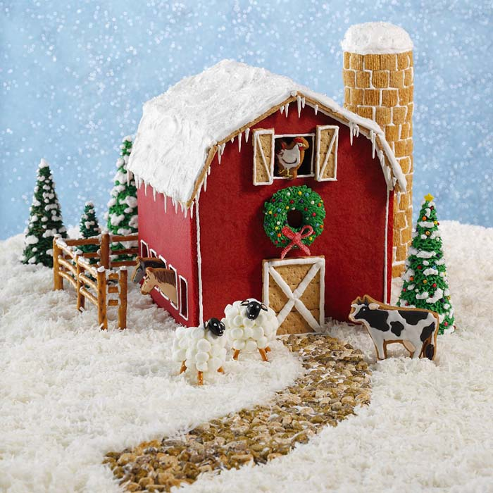 Gingerbread Barn #Christmas #gingerbread #house #decorhomeideas