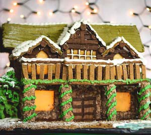 Gingerbread House Wilderness Mountain Lodge #Christmas #gingerbread #house #decorhomeideas