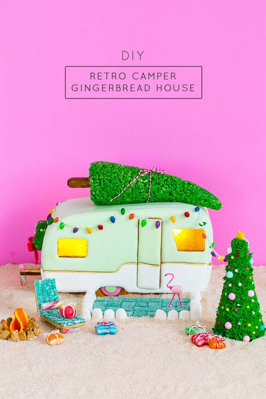 Gingerbread Retro Camper #Christmas #gingerbread #house #decorhomeideas