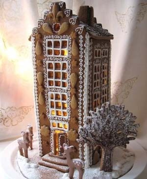 Gingerbread Skyscraper #Christmas #gingerbread #house #decorhomeideas