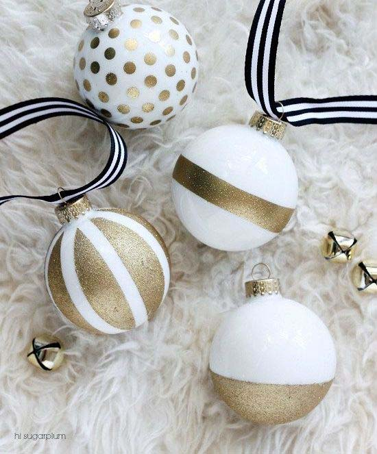Gold Glittery Ornaments