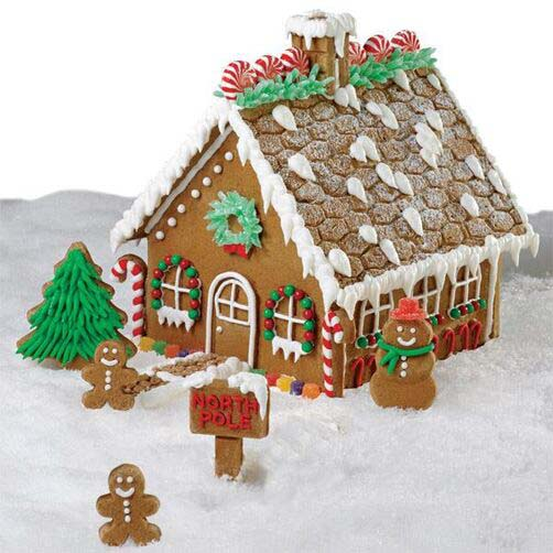 Grand Gingerbread House #Christmas #gingerbread #house #decorhomeideas