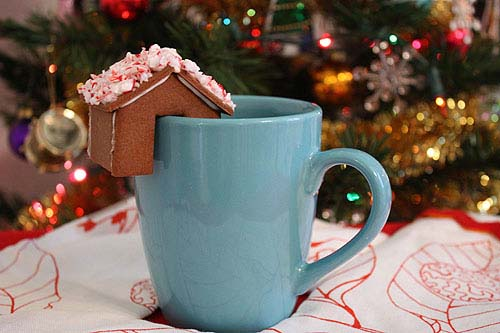 Mini Gingerbread for Mug #Christmas #gingerbread #house #decorhomeideas