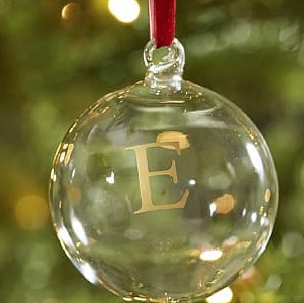 Monogrammed Ornament