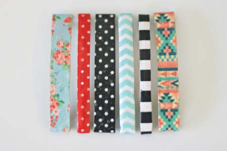 Patterned Hair Clips #Christmas #diy #stocking #stuffer #decorhomeideas