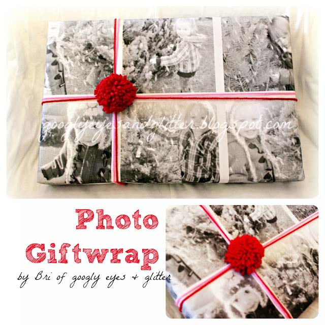 Photo Collage Gift Paper #Christmas #diy #gift #wrapping #decorhomeideas