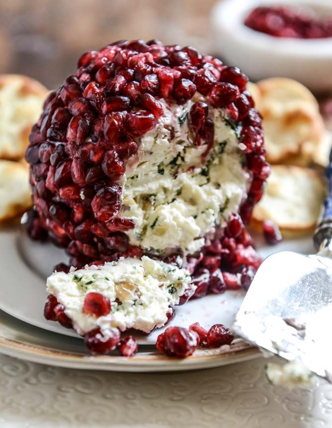 Pomegranate Cheeseball