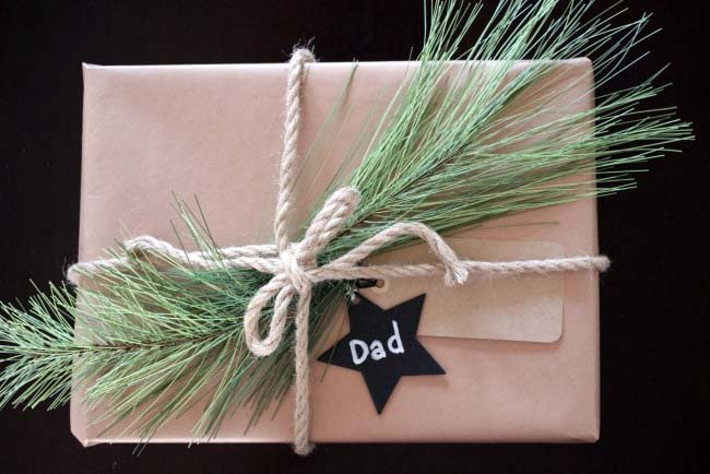 Rope Wrapped Gift #Christmas #diy #gift #wrapping #decorhomeideas