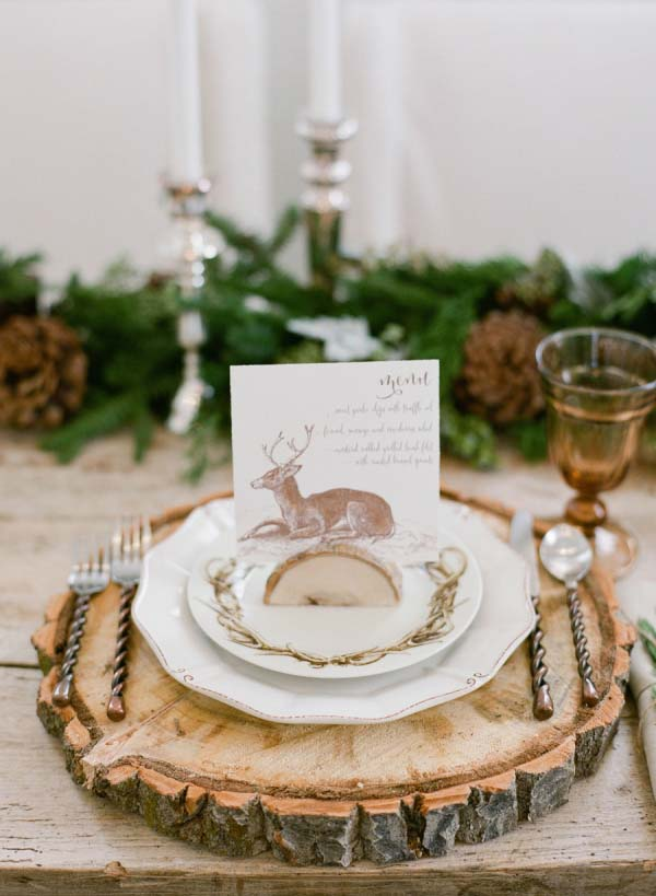 Rustic Winter Place Setting #Christmas #natural #decoration #decorhomeideas
