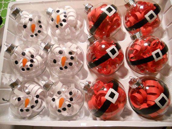Santa and Snowmen Ornaments