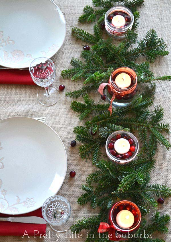Simple and Pretty Christmas Centerpiece #Christmas #natural #decoration #decorhomeideas