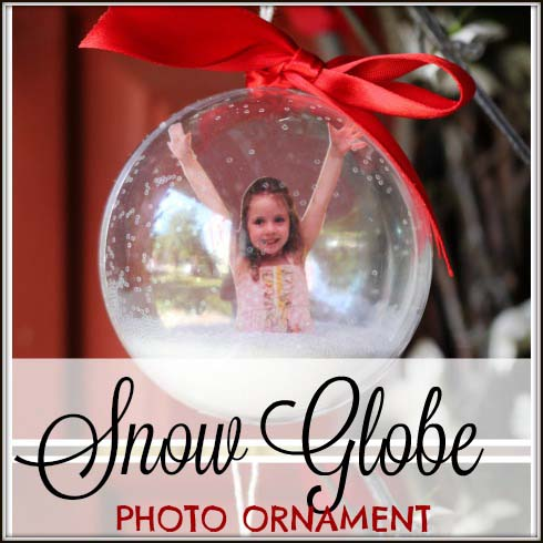 Snow Globe Kids Ornament