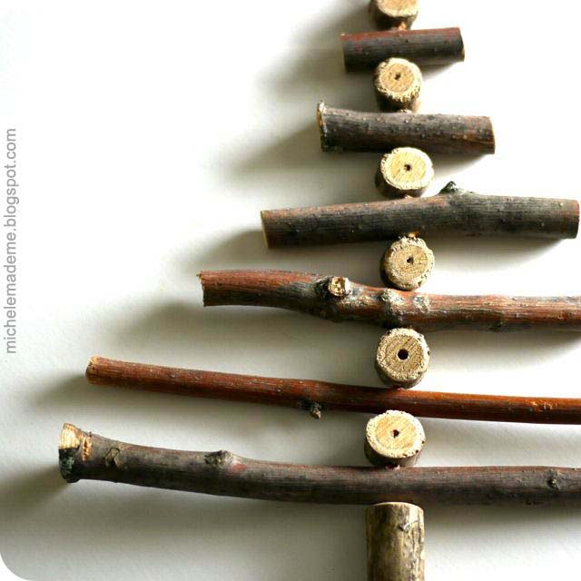 Twig Christmas Tree Ornament