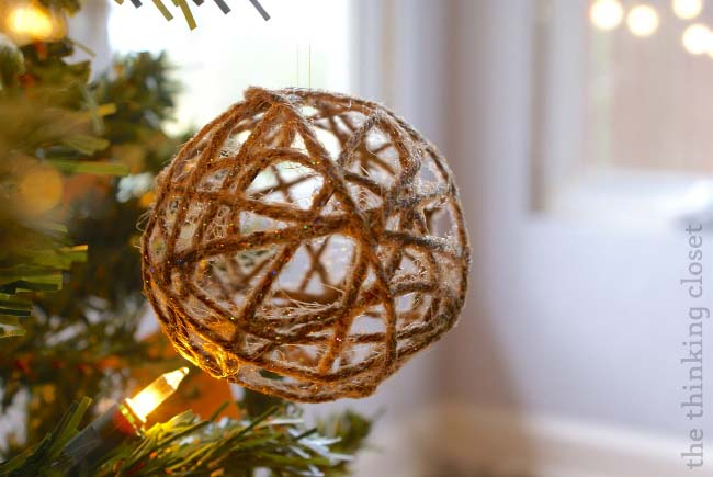 Twine Ball Ornament Tree