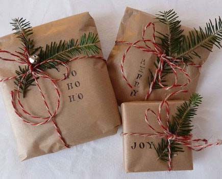 Vintage Christmas GIft Wrapping #Christmas #diy #gift #wrapping #decorhomeideas