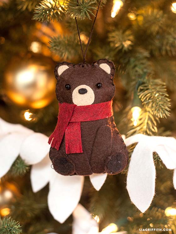 Wool Felt Bear Stuffie