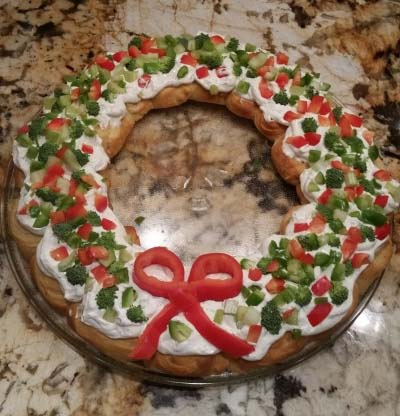 Wreath Appetizer for Christmas