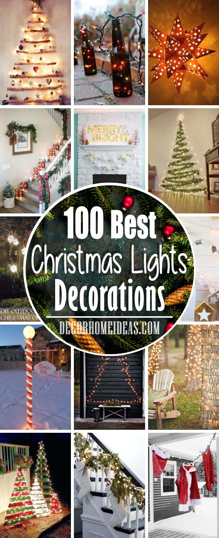 Best DIY Christmas Lights Decorations Ideas #diy #Christmas #lights #decorhomeideas