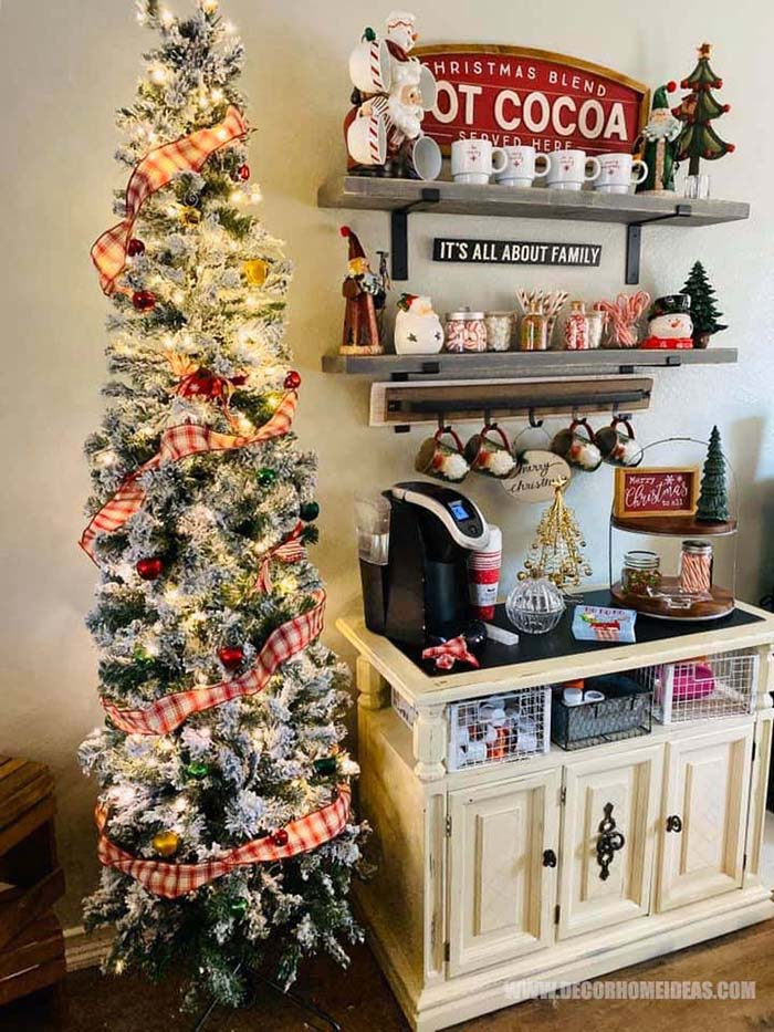 Christmas Coffee Bar Decoration #coffee #bar #Christmas #decorhoimeideas