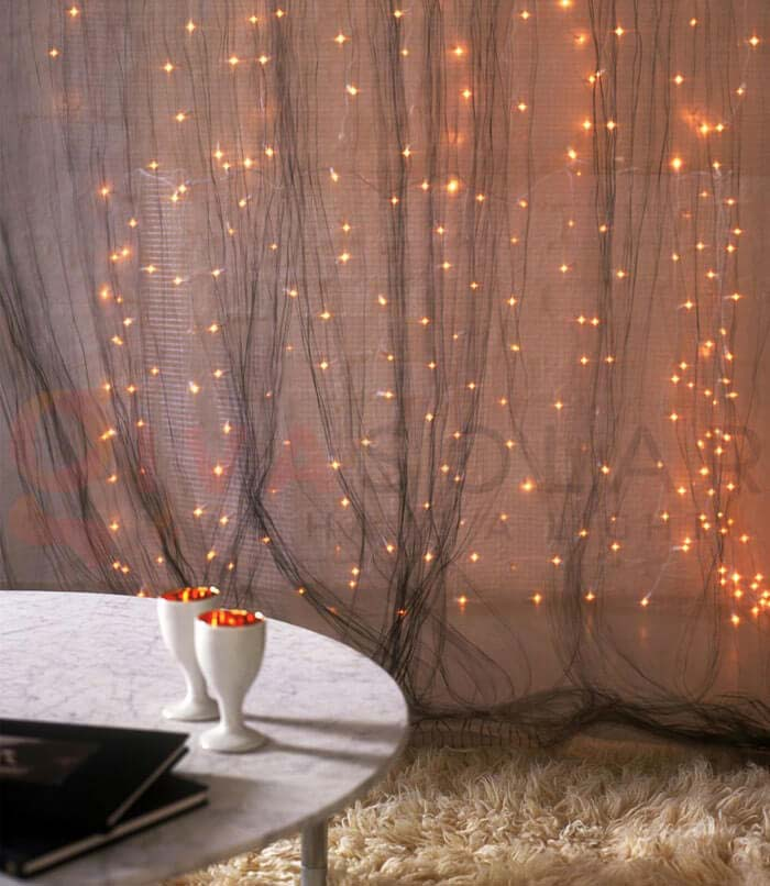 Christmas Light Curtain Backdrop #Christmas #diy #lights #decorhomeideas