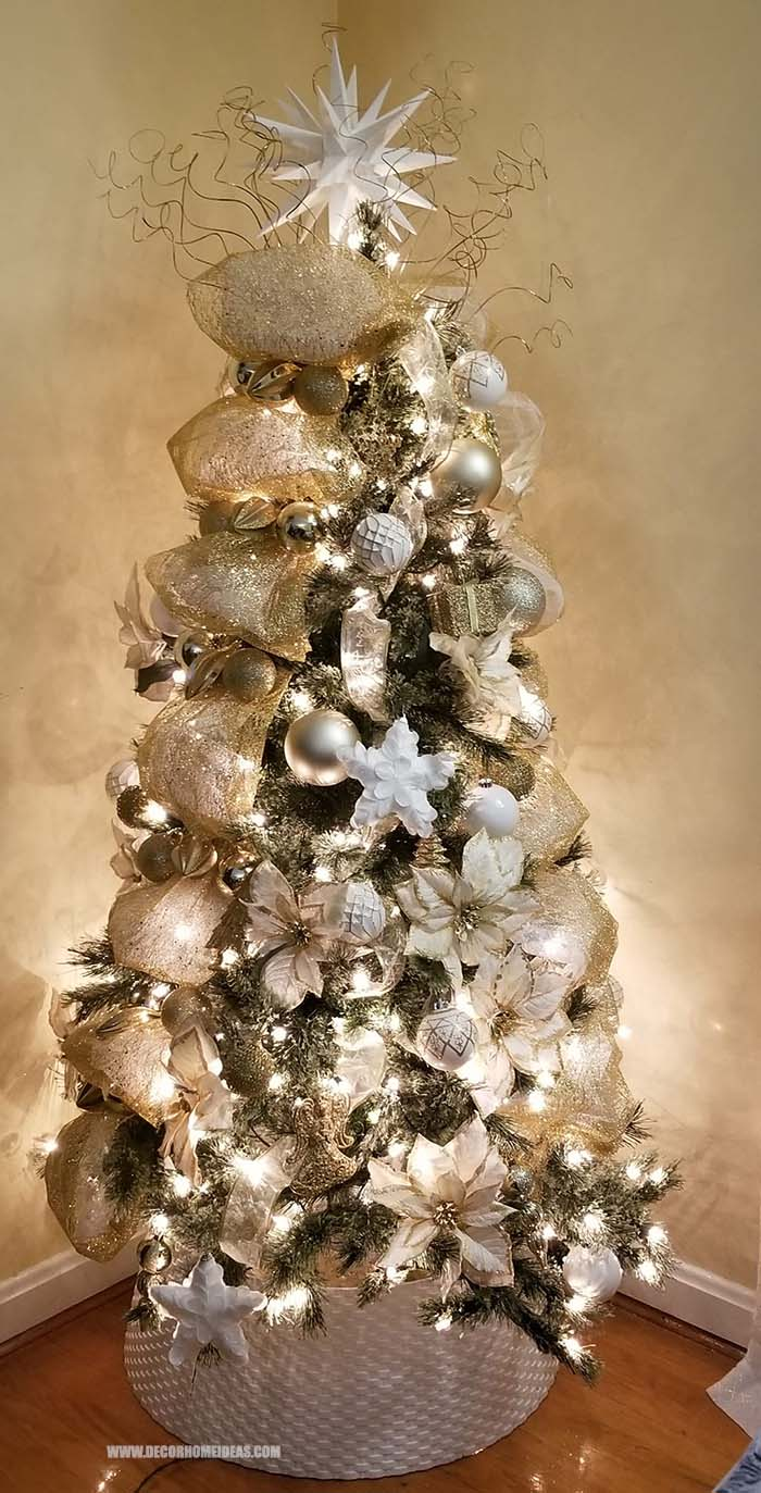 Gold And Silver Christmas Tree Decor