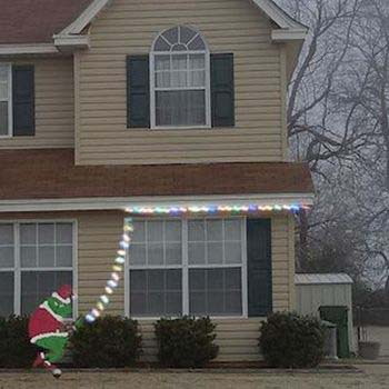 Grinch Stealing Christmas Lights #Christmas #diy #lights #decorhomeideas