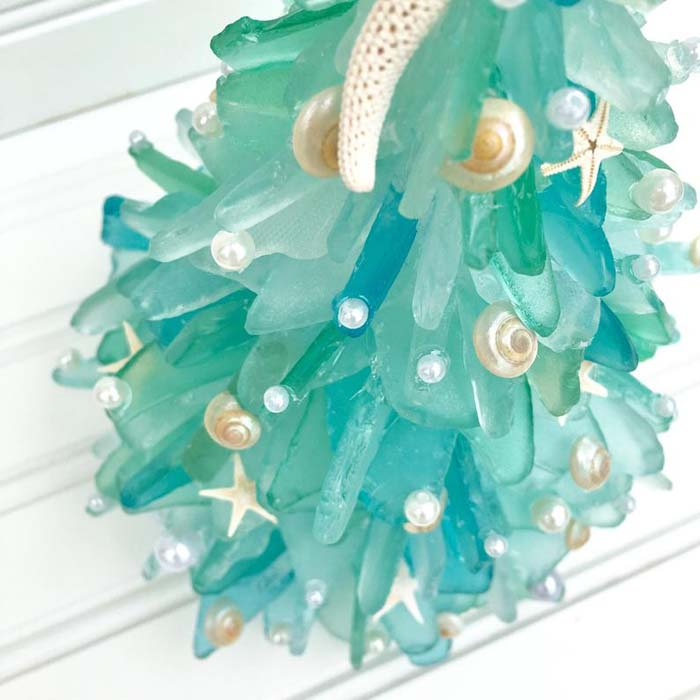 Sea Glass Christmas Tree 1