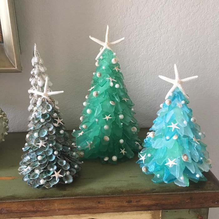 Sea Glass Christmas Tree 2