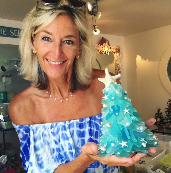 Sea Glass Christmas Tree 4