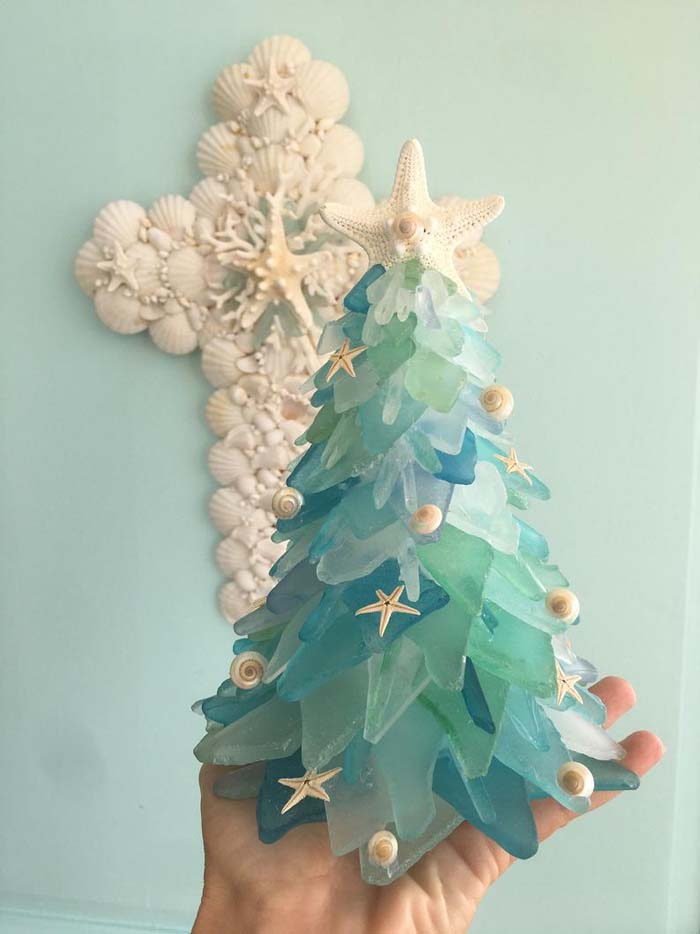 Sea Glass Christmas Tree 8