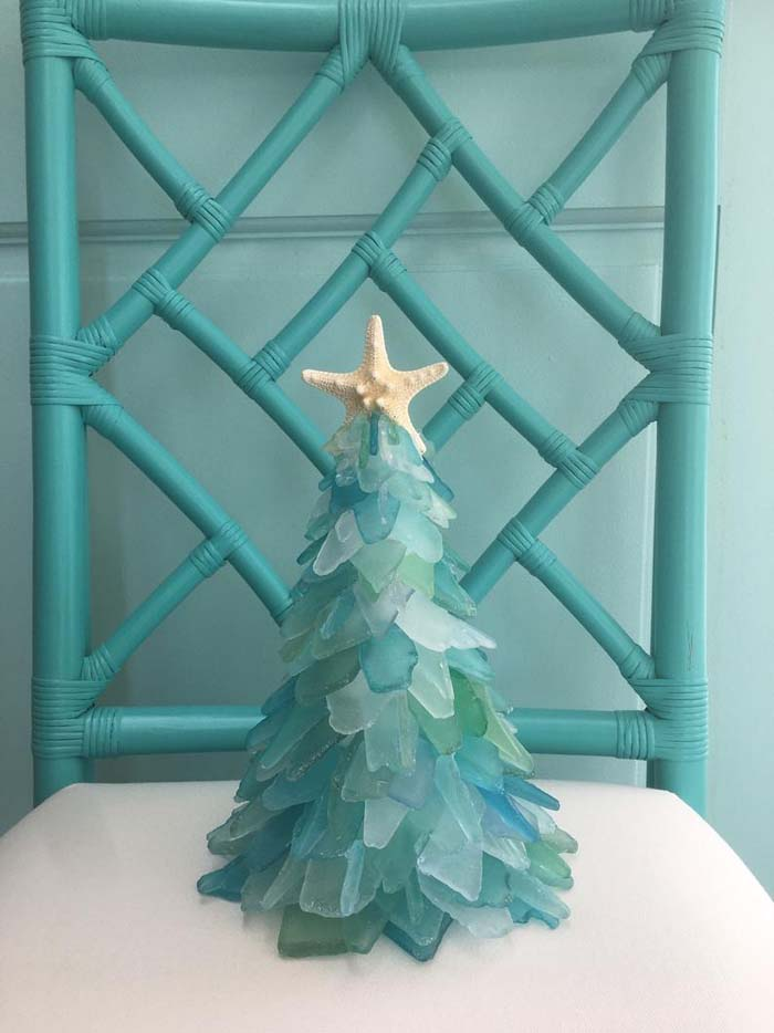 Sea Glass Christmas Tree 9