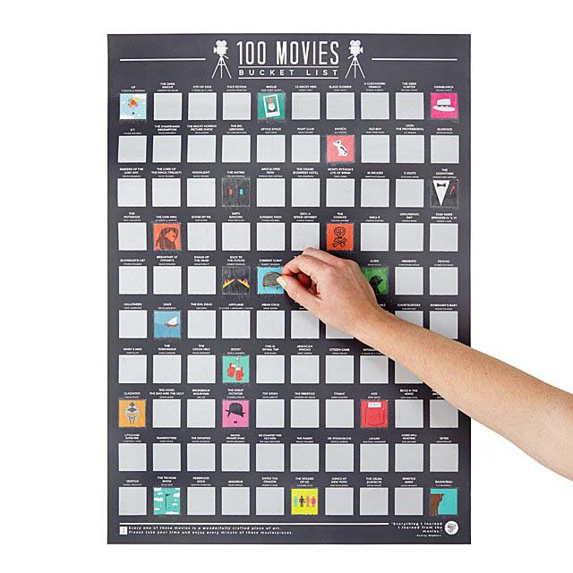 100 Movies Scratch Off Poster #valentine #gifts #girl #woman #decorhomeideas