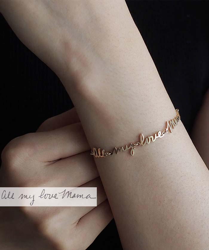 Actual Handwriting Bracelet #valentine #gifts #girl #woman #decorhomeideas