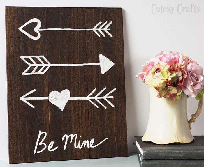 Arrow DIY wall art #valentinesday #gifts #diy #decorhomeideas