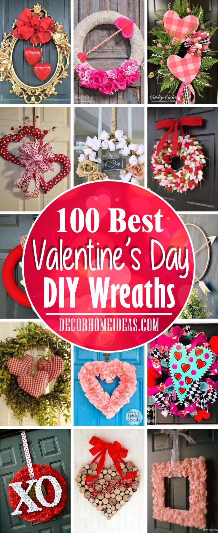 Best Diy Valentines Day Wreaths #valentine #diy #wreath #decorhomeideas