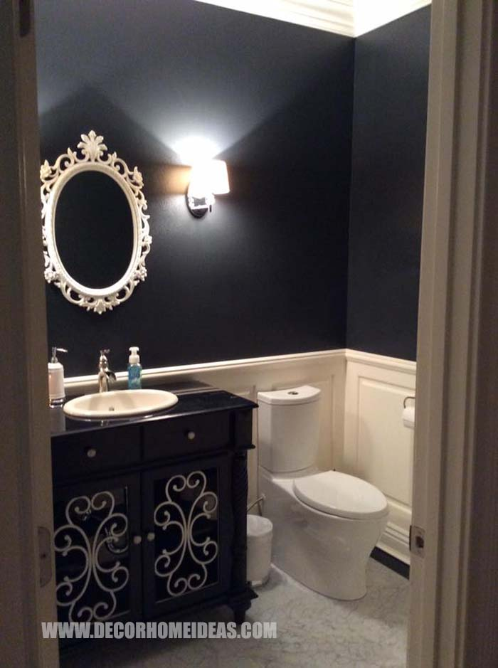 Black Paint Small Bathroom #black #paint #bathroom #small #decorhomeideas