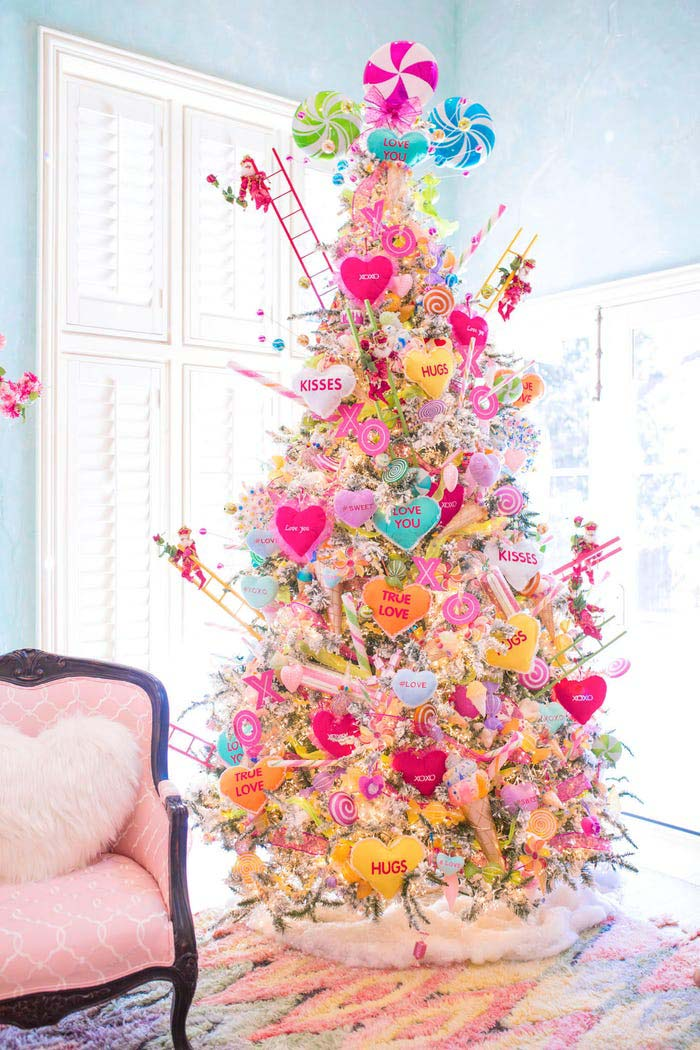 Candy Valentine's Day Tree #valentine #tree #diy #decorhomeideas